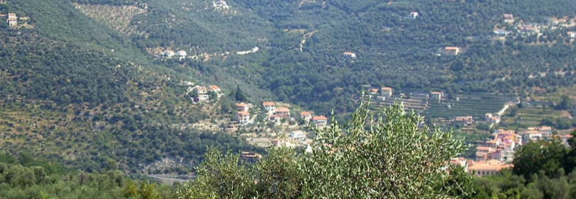 Mening van Garessio in Ligurië
