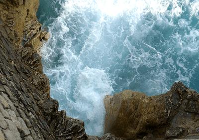 Een mening van Balzi Rossi Caves in Ligurië