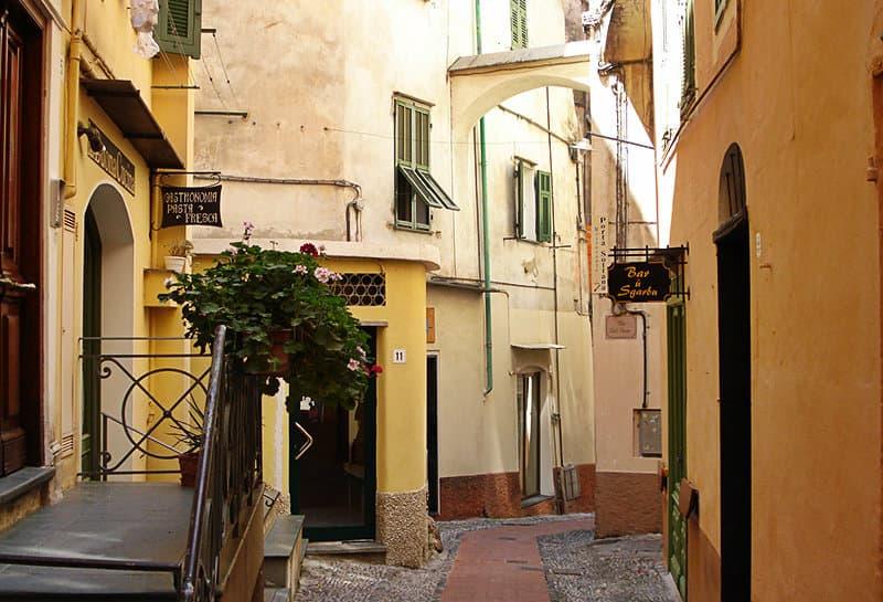 Een straat van Bordighera