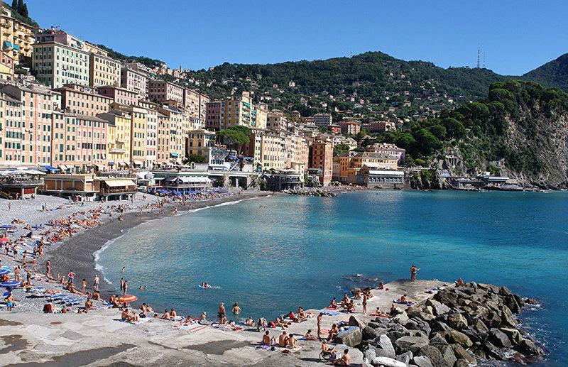 Een prachtig uitzicht op Camogli in Ligurië