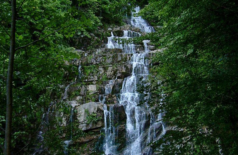 Waterval Cascate dell'Arroscia van Mendatica in Ligurië