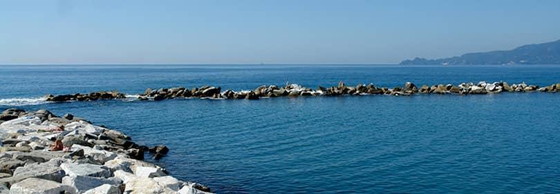 Strand in Chiavari, Liguria