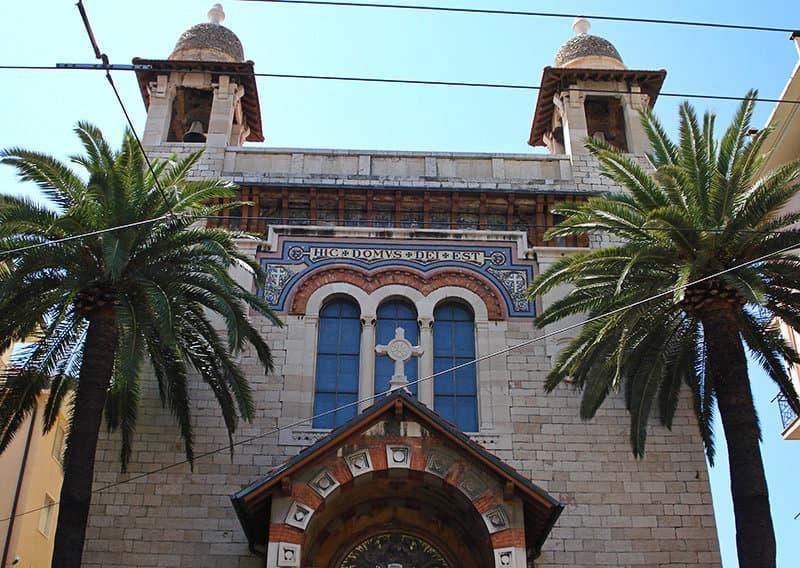 Een kerk in Bordighera