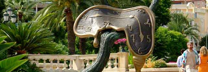 Salvador Dali Klok sculptuur in Monte Carlo