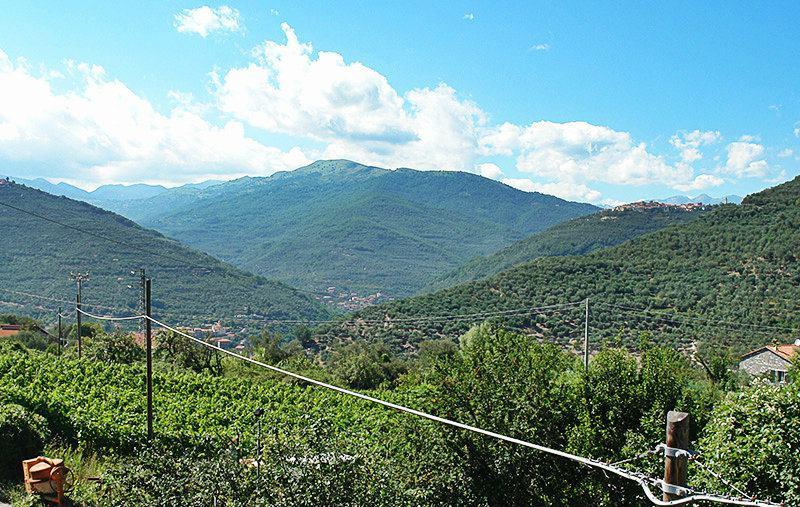 Uitzicht op de bergen van het dorp Gazzelli