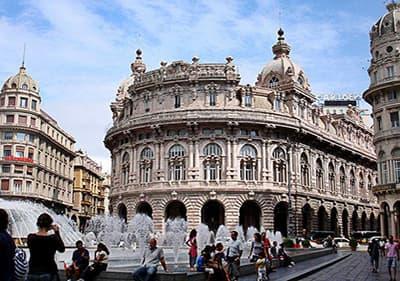Piazza de Ferrari in Genua, Ligurië