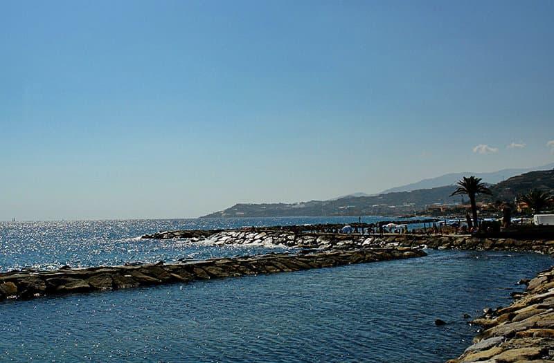 Uitzicht op zee in Santo Stefano al Mare