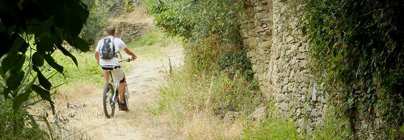 Mountainbike tour in Imperia, Liguria (Via Cresta)
