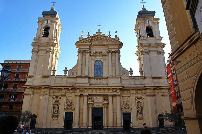 Een kerk van San Giacomo in Santa Margherita Ligure