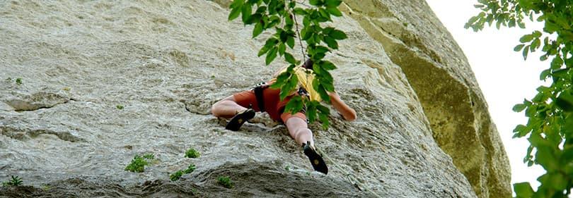 Klimmen op een berg in Ligurië