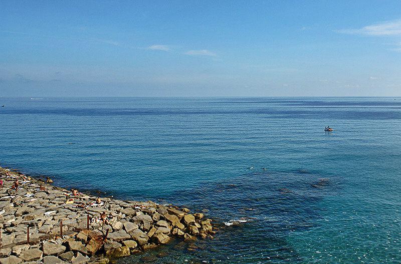 Mooie zeezicht Imperia, Porto Maurizio in Ligurië