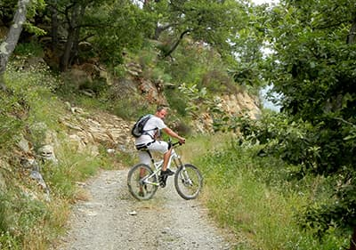 Mountainbiketocht in Imperia Via Cresta, Liguria