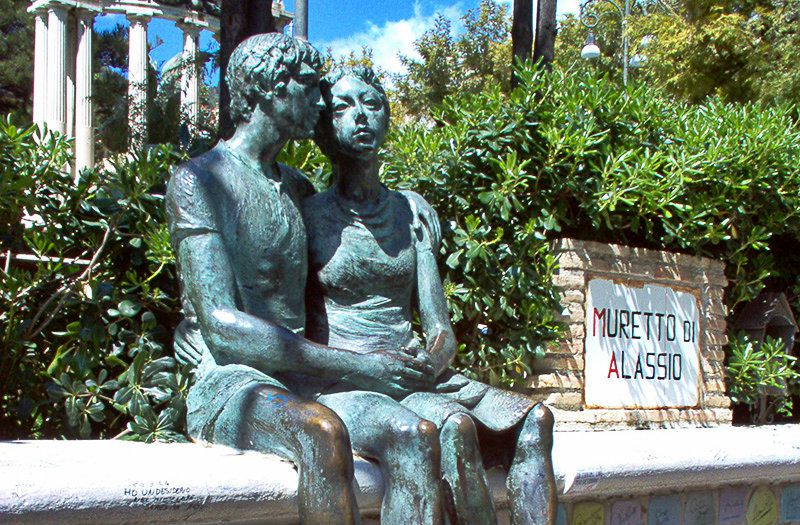 Muretto di Alassio, een bekende toeristische attractie in Alassio