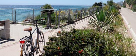 Pista Ciclabile fietspad in Ligurië
