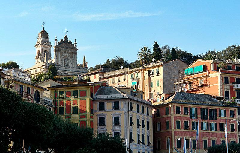 Een prachtig uitzicht op de vakantiebestemming Santa Margherita Ligure