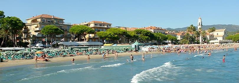 Strand in Diano Marina, Ligurie