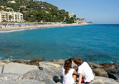 Strand in Finale Ligure, Ligurie