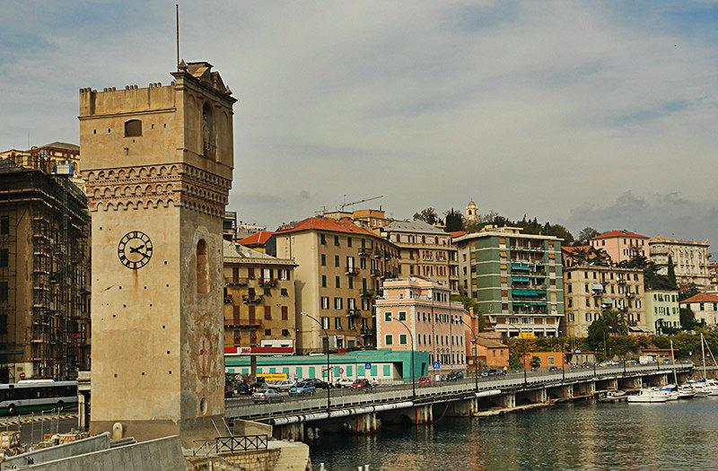 Torre Leon Pancaldo in Savona, Ligurië