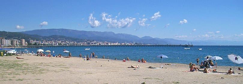 Strand in de provincie Savona, Ligurië