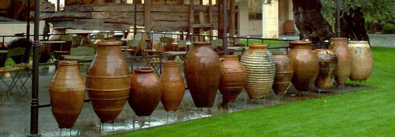 Vazen in Museo dell'Olivo in Imperia