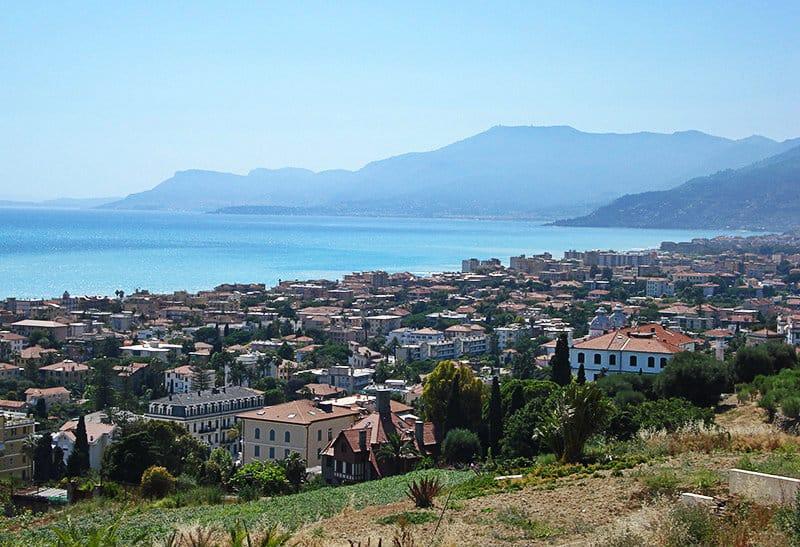 Een prachtig panoramisch uitzicht over Bordighera