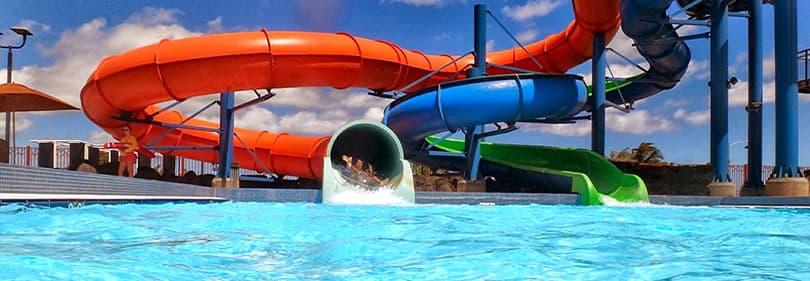 Waterpark in Ligurië, Italië