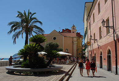 Mooie straatjes in Alassio