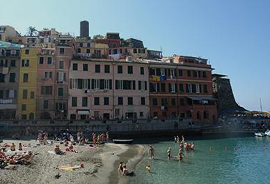 De veelkleurige huisjes in Vernazza